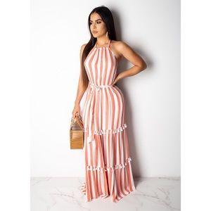 Dresses - 🆕 ➳ Sweet Like Candy Tie Tassel Maxi Dress